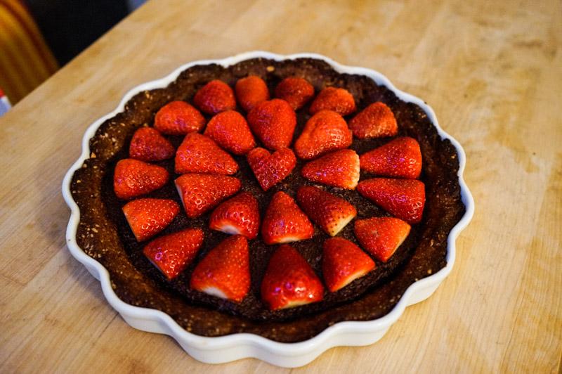 Chokolade-jordbær tærte-9852