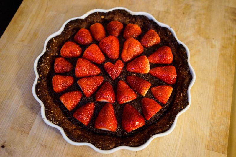 Chokolade-jordbær tærte-9853