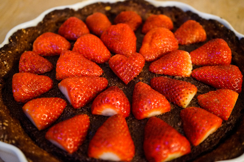 Chokolade-jordbær tærte-9856