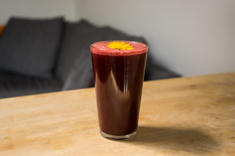 Rød mælkebøttejuice-0649