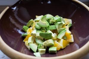 Sort quinoa-salat med appelsin og blåbær-2780