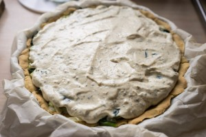 Glutenfri porretærte med spinat og tofu-3581