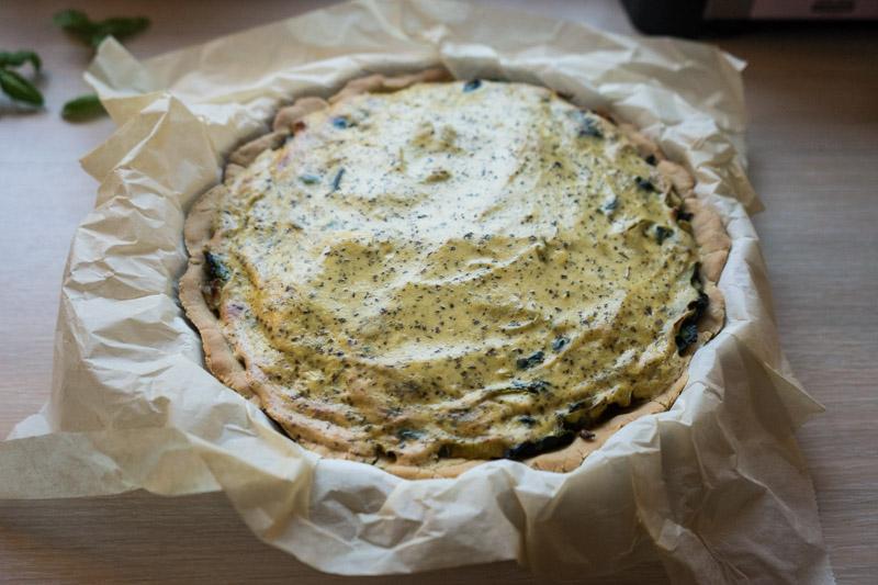 Glutenfri porretærte med spinat og tofu-3586