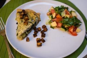Glutenfri porretærte med spinat og tofu-3602