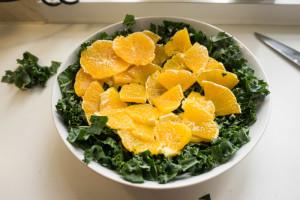 Grønkålssalat med appelsin og ingefær-4833