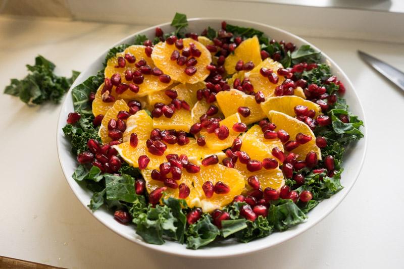 Grønkålssalat med appelsin og ingefær-4834