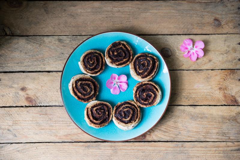 Glutenfrie og veganske chokoladesnegle-6828